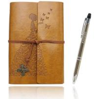 Writing Journals Notebook (Value Pack) Refillable Leather Women's Notebook Journals, A6(7×5inch) Travel Diary, Best Gift for Teens Girls and Boys