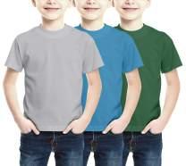 SPECTRA USA APPAREL COMPANY Kids Short Sleeve Cotton T-Shirt, Crew Neck Tees for Boys & Girls