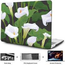 OneGET MacBook Air 13 Inch Case 2018 Laptop Case MacBook Air 13 inch Release A1932 with Retina Display Computer Case Air 13 Inch Hard Shell Fashion MacBook Air 13 Case Whith Touch ID Flowers (F9)