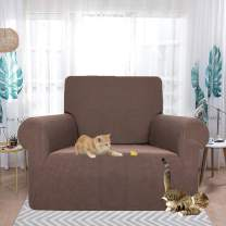 HEBE Stretch Couch Cover Water Repellent Chair Cover Sofa Slipcover for Individual 1 Seat Cushion Couch Chair Furniture Protector Throw Covers for Pet Dogs Cats Kids
