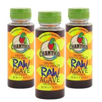 Chantico Agave Sweetener (Raw Agave, 3 Pack of 11.75oz Bottles) Organic Natural Sugar Substitute with a Low Glycemic Index and a Premium Food Taste - Stevia Alternative That Can Be Used For Baking