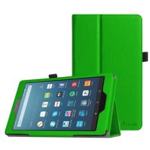 Fintie Folio Case for All-New Amazon Fire HD 8 Tablet (Compatible with 7th and 8th Generation Tablets, 2017 and 2018 Releases) - Slim Fit Premium Vegan Leather Standing Protective Cover, Green