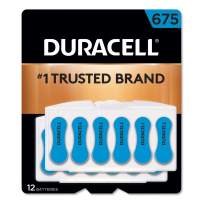 Duracell - Hearing Aid Batteries Size 675 (Blue) - long lasting battery with EasyTab for ease of installation - 8 count