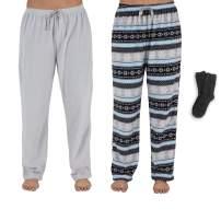 Mad Dog Concepts Women's Micro Fleece Pajama Pants with Cozy Socks (2pack)
