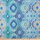 Richloom Fabrics 0333362 Richloom Solarium Outdoor Fresca Cobalt Fabric by the Yard