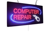 Computer Repair Sign, TOPKING Signage, LED Neon Open, Store, Window, Shop, Business, Display, Grand Opening Gift