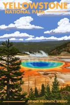 Yellowstone National Park, Wyoming - Grand Prismatic Spring 48335 (16x24 SIGNED Print Master Art Print - Wall Decor Poster)
