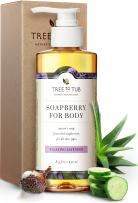 Gentle, Moisturizing Body Wash for Dry Skin by Tree To Tub - 5.5 pH Balanced Body Wash for Sensitive Skin. Pure Lavender Soap for All Ages with Wild Soapberries, Organic Shea Butter, Aloe Vera 8.5 oz