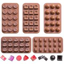 Chocolate Molds, Candy Making Silicone Molds, Mini Baking Molds 5 Pack, Non Stick Hard Gummy Candy,BPA Free Candy Making Mold