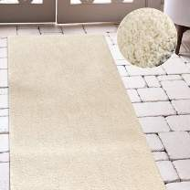 jinchan Plush Doormat Area Rug Fluffy Warm for Nursery Luxe Area RugCozy Solid Shag Rug Indoor Soft Mat Modern Floorcover for Living Room Bedroom 2'2'' x 7' Ivory