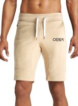 Ouber Men's Fitted Gym Shorts Running Sweat Shorts