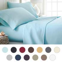 ienjoy Home Hotel Collection Luxury Soft Brushed Bed Sheet Set, Hypoallergenic, Deep Pocket, Twin X-Large, Aqua