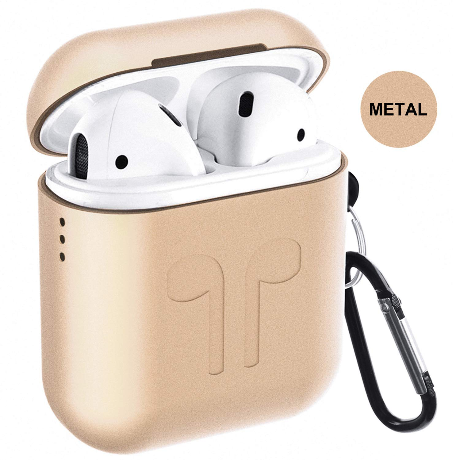 Metal Airpods Case Newest Full Protective Skin Cover Accessories Kits Compatible Airpods 1&2 Charging Case[Not for Wireless Charging Case]