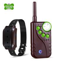 KOFOHON Pet Training Collars for Dogs-Shock Vibration Beep/Tone Modes with Wireless Remote Range Waterproof and Rechargable for Small Medium Large 1 to 2 Dogs Electric Barking Collar System