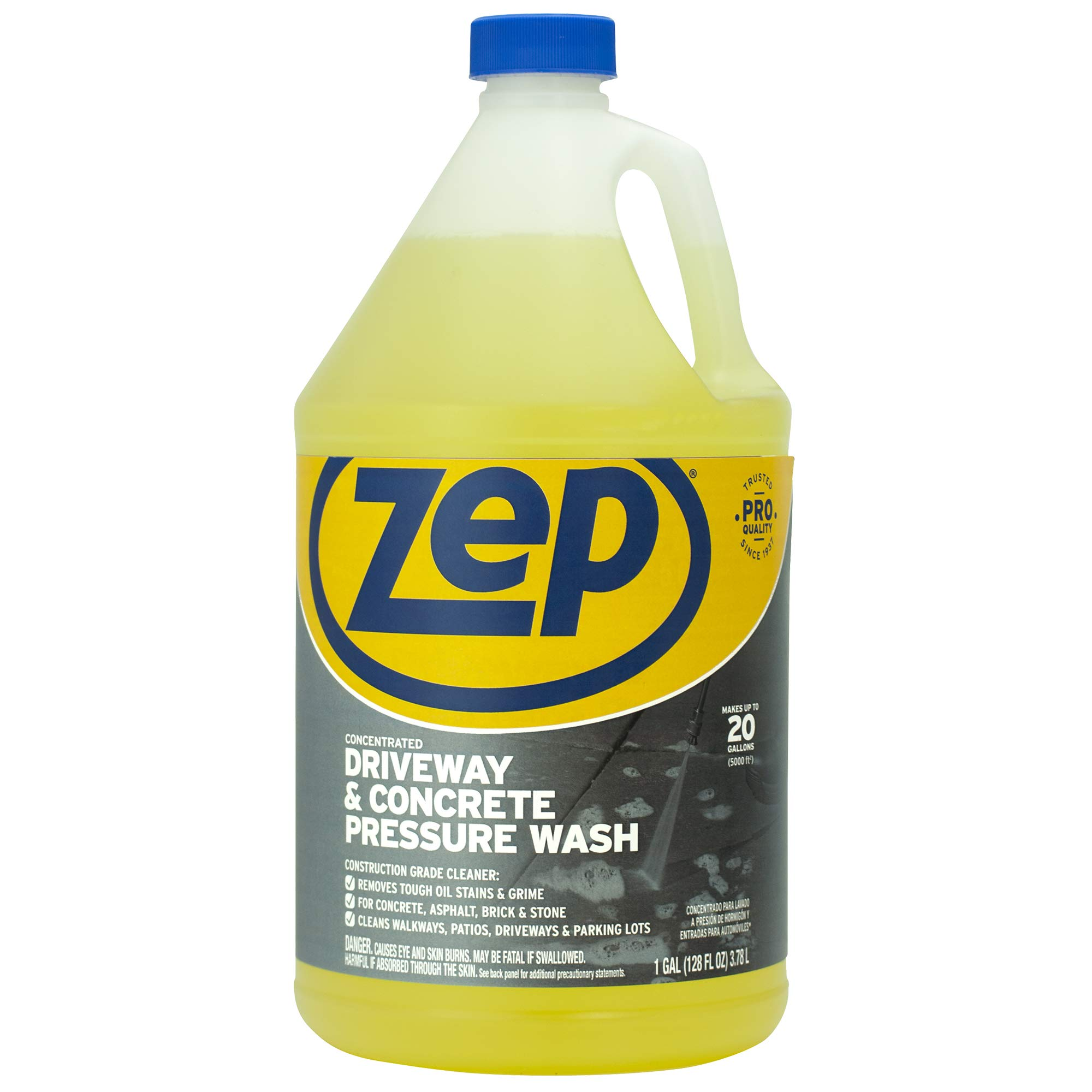 Zep Driveway and Concrete Pressure Wash Cleaner Concentrate 128 Ounce ZUBMC