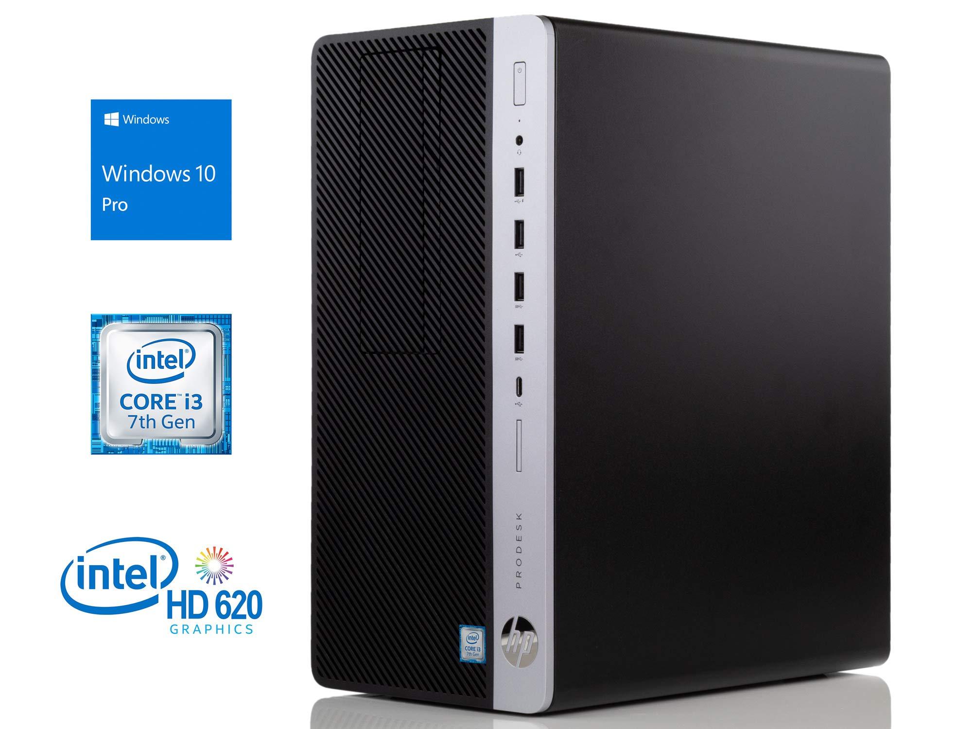 HP ProDesk 600 G3 Desktop, Intel Core i3-7100 3.9GHz, 16GB RAM, 256GB SSD, DVDRW, DisplayPort, VGA, Wi-Fi, Bluetooth, Windows 10 Pro