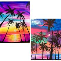 SKRYUIE 2 Pack 5D Diamond Painting Coconut Trees and Beaches Full Drill Paint with Diamond Art, Shells & Moonlight Sandbeach DIY Painting by Number Kits Rhinestone Wall Home Decor 30x40cm (12x16 inch)