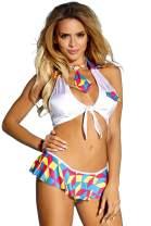 Edenight Schoolgirl Costume Lingerie Outfit Uniform Dress Student Cosplay with Tie