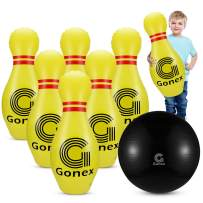 Gonex Giant Inflatable Bowling Set for Kids Family, Lawn Yard Bowling Game Ondoor Indoor Party Toys with 6 Pins and 1 Ball and Pump