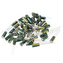 uxcell Aluminum Radial Electrolytic Capacitor Low ESR Green with 100UF 10V 105 Celsius Life 3000H 5 X 11 Mm High Ripple Current,Low Impedance 60pcs