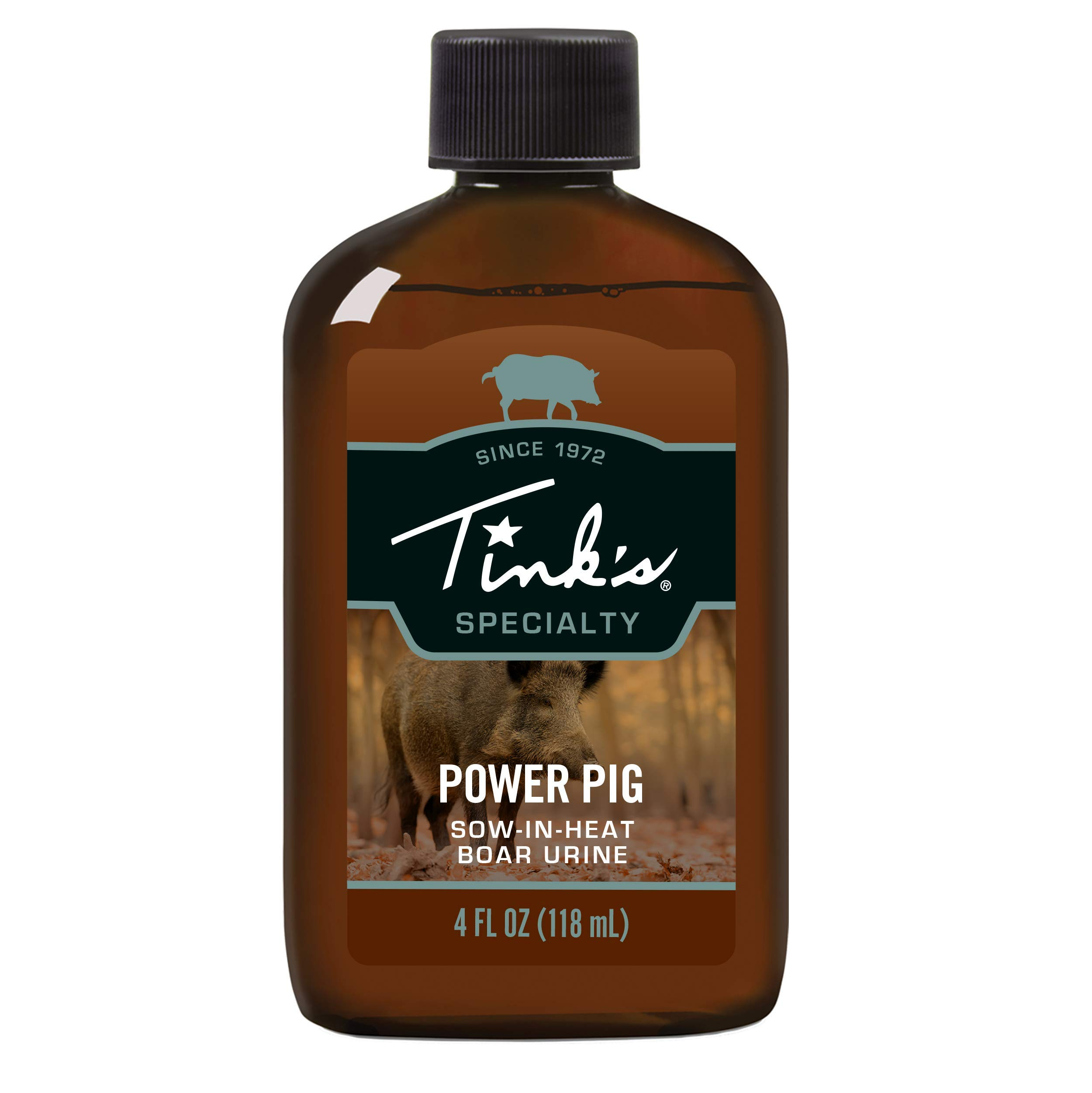 Tink's Power Pig Sow-in-Heat Attractant   4 Oz Bottle   100% Natural Hog Urine, Sow Scented Hog Lure, Hunting Accessories, Boar Scents, Wild Hog Attractants   Easy to Use Squirt Top