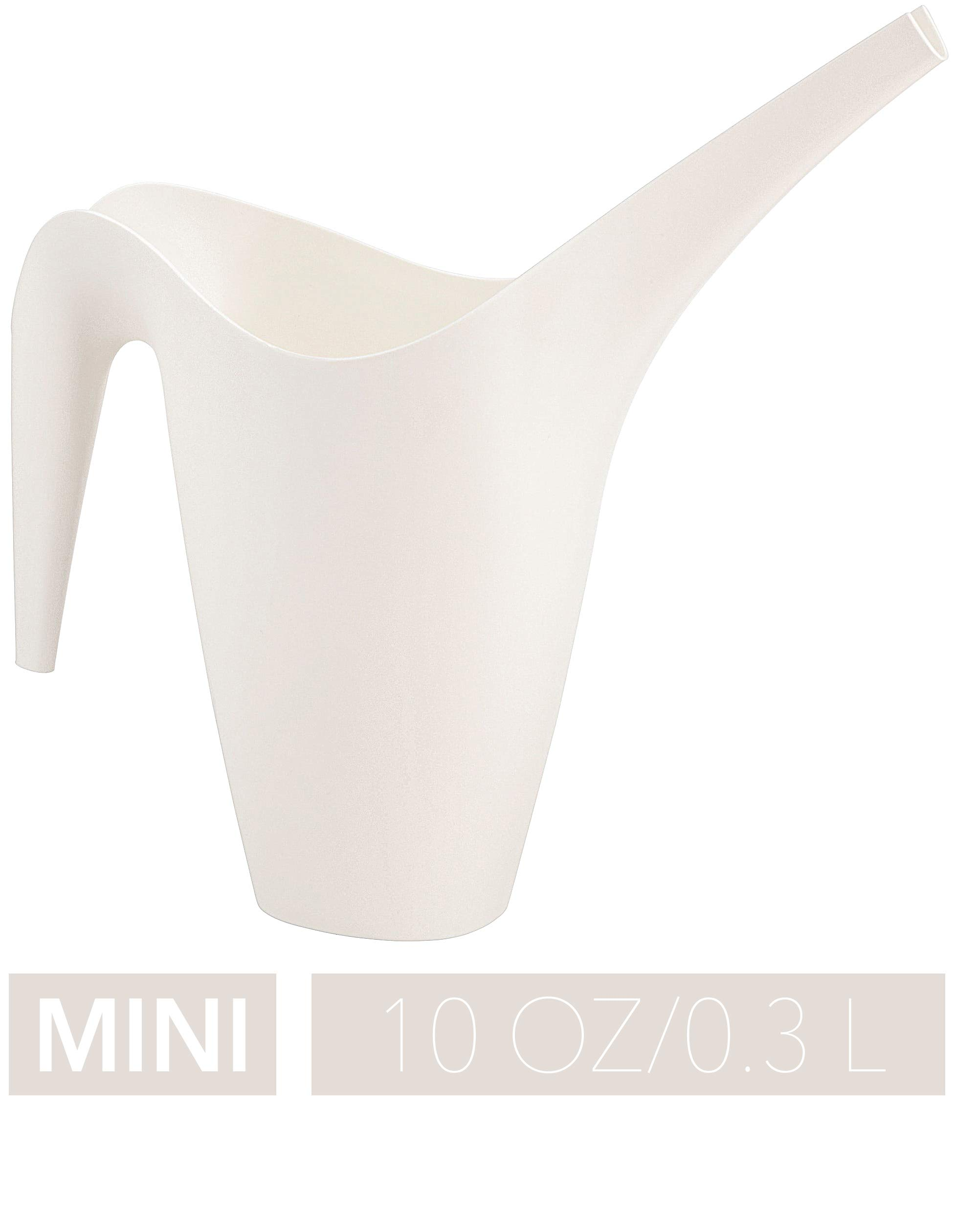 Crebri Mini Watering Can Indoor 10oz, Small Plant Watering Can, Succulent Bottle, Plastic Flower Tools for House, Tiny Bonsai Water Cans, Miniature (10 oz, White)