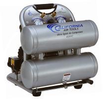 California Air Tools CAT-4620AC-22060 Ultra Quiet & Oil-Free 2.0 hp 4.0 gallon Aluminum Twin Tank Electric Portable Air Compressor, Silver