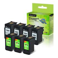 GREENCYCLE ReManufactured PG-240XL 240 XL CL-241XL 241 XL Ink Cartridge Compatible for Canon PIXMA MX452 MG3220 MG2120 MX472 MX532 MX479 MX522 TS5120 Printer (4 Black 240XL, 3 Tri-Color 241XL)
