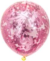 PartyWoo Pink Balloons 20 pcs 12 Inch Pink Confetti Balloons