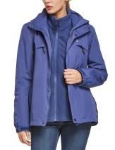 BALEAF Womens 3-in-1 Ski Jacket Waterproof Detachable Hooded Snowboarding Coats with Fleece Liner Skiing Jacket
