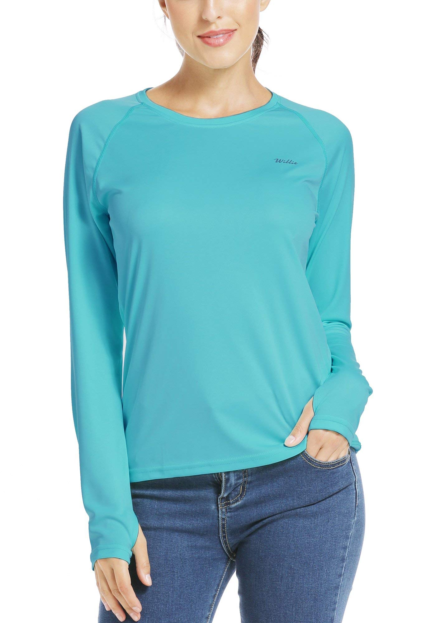 Willit Women's UPF 50+ Sun Protection T-Shirt Long Sleeve SPF UV Hiking Outdoor Top Dry Fit Lightweight