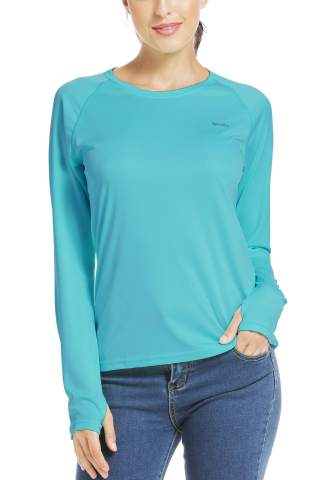 Willit Womens UPF 50 Sun Protection Shirt Long Sleeve SPF UV Shirt Hiking Outdoor Top Lightweight