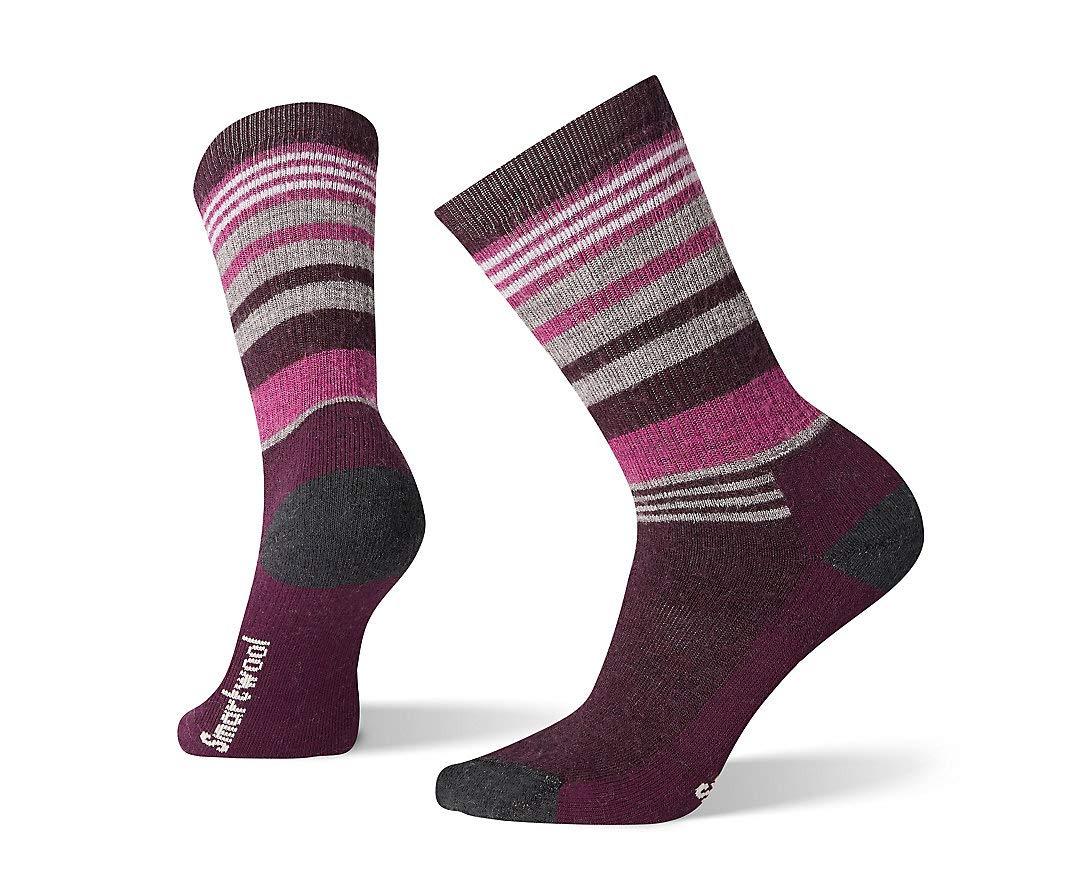 Smartwool Hiking Crew Socks - Women's Striped, Medium Cushioned Wool Performance Sock
