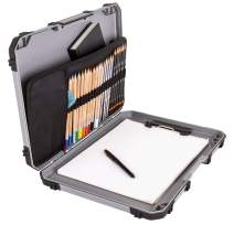ArtBin 6838AG Sketch Board, Portable Drawing Surface with Internal Art & Craft Storage, Grey