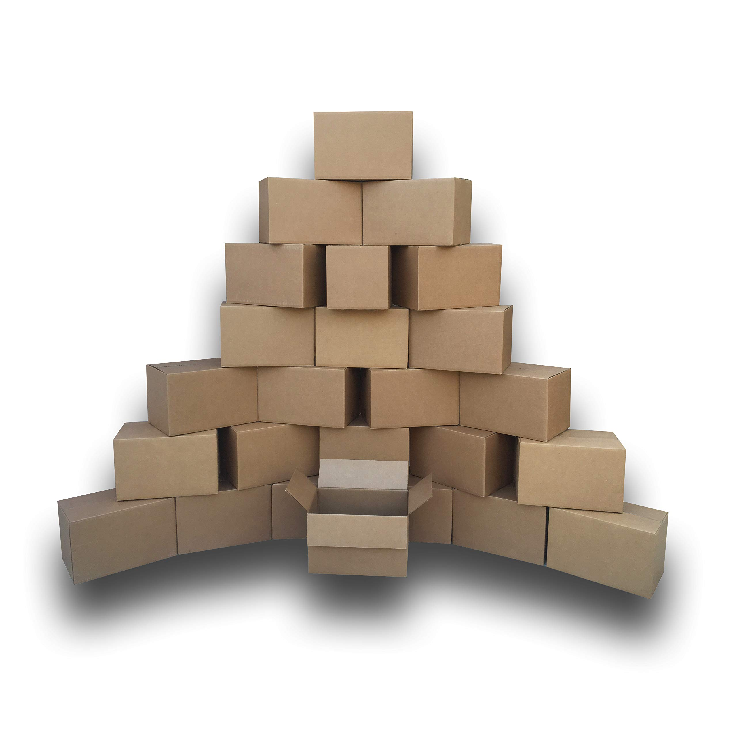 """uBoxes Moving Boxes Bundle of 16""""x10""""x10"""" (Small Boxes - Pack of 25)"""