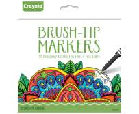 Crayola Brush Tip Markers, Adult Coloring, 32Count, Gift