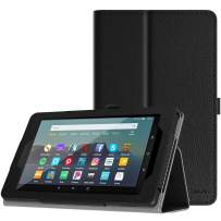 TiMOVO Case Fits All-New Fire 7 Tablet (9th Generation, 2019 Release) - Lightweight Smart Shell Slim Folding Cover Case with Auto Wake/Sleep Fit Amazon Fire 7 Tablet - Black