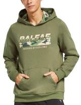 BALEAF Men's Fleece Camo Camping & Hunting Hoodie Kangaroo Pocket Thermal Outdoor Sweatshirts Pullover
