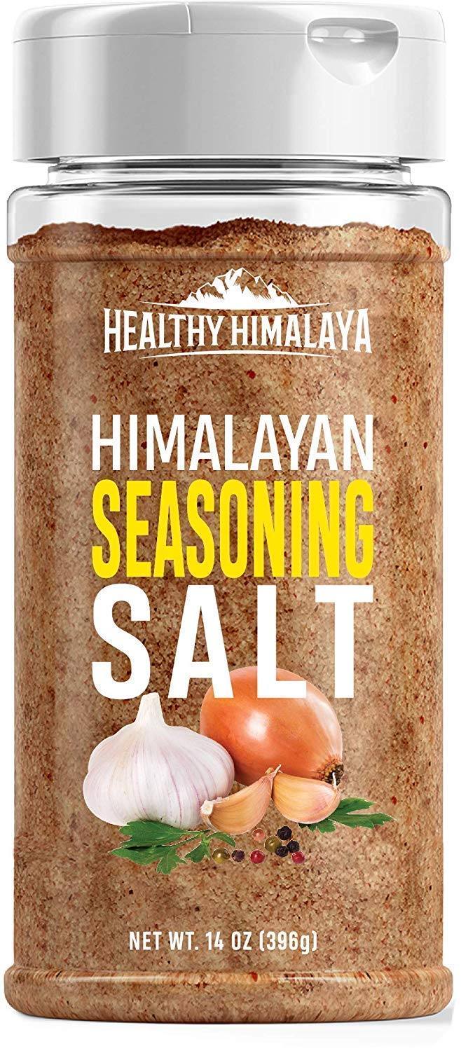 Healthy Himalayan Seasoning Salt - All-Natural Himalayan Salt Blend for Meats, Vegetables, Pretty Much Anything - 14 Ounces