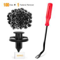 GOOACC 100PCS Nylon Bumper Fastener Rivet OEM Replacement-#01553-09321 8mm,1PC Bonus Fastener Remover
