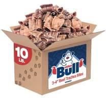 ValueBull Beef Trachea Bites, Premium 3-4 Inch, 10 Pound - Angus Beef Dog Chews, Grass-Fed, Single Ingredient