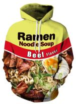 Indrah Mens Pullover Hoodie Galaxy Pockets 3D Printed Hooded Sweatshirts