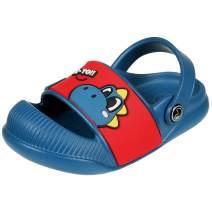 Beslip Toddler Boys Girls Clogs - Baby Boy Girl Anti-Slip Beach/Pool Sandals Closed Toe Slip on Water Shoe