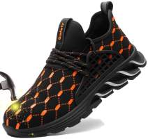 SUADEX Indestructible Steel Toe Shoes Men Women Work Safety Shoes Non-Slip Puncture-Proof Composite Toe Sneakers