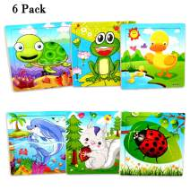 FGWAF Gift Wooden Puzzles for Toddlers 9 (pc) - Best Gifts