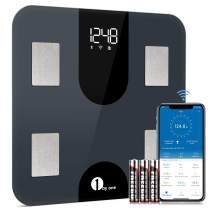 1byone Digital Weight Scale Body Fat Bathroom Scale Smart Bluetooth WiFi Scales,BMI, Accurate 13 Body Composition Analyzer,400 lbs, Batteries Included