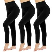 High Waisted Leggings for Women - Soft Athletic Tummy Control Pants for Running Cycling Yoga Workout