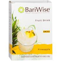 BariWise High Protein Powder Fruit Drink (15g Protein) / Low-Carb Diet Drinks - Pineapple (7 Servings/Box) - Fat Free, Low Carb, Low Calorie, Sugar Free