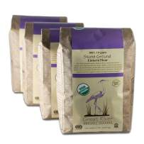 Great River Organic Milling, Specialty Flour, Einkorn Flour, Ancient Organic Grain, Stone Ground, Organic, 5-Pounds (Pack of 4)