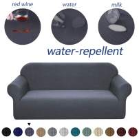 Granbest Premium Water Repellent Sofa Cover High Stretch Couch Slipcover Super Soft Fabric Couch Cover (Gray, XL Sofa)